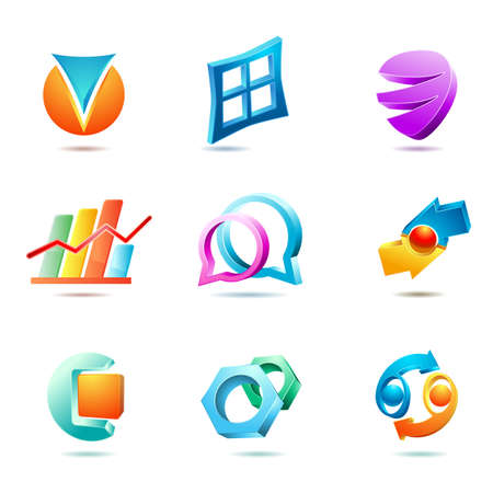 set of symbols and icons Stock Vector - 19684100