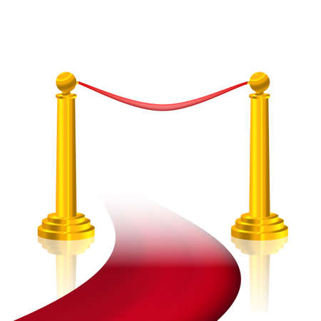 red carpet and golden fence Vector