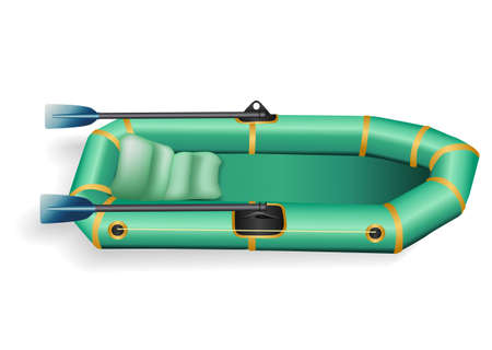 wade: inflatable boat Illustration