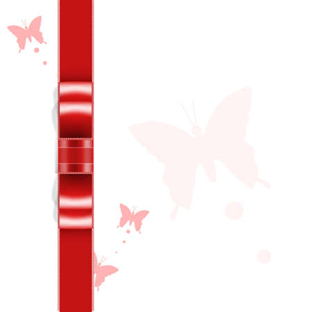 red ribbon background Illustration