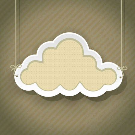 cloud as retro sign on vintage background Stock Vector - 21634263