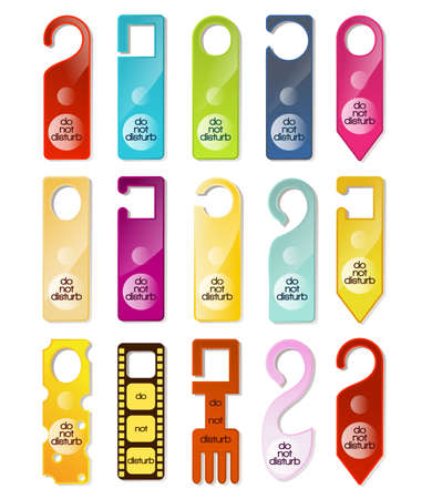 Do not disturb signs set Stock Vector - 21634290