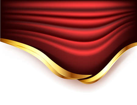 Background with red curtains Vector