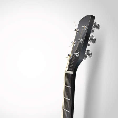guitar neck: acoustic guitar head vector background