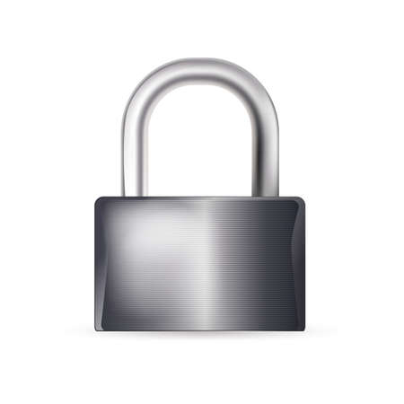 closed lock on white background Stock Vector - 21634379