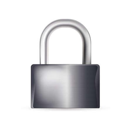 closed lock: closed lock on white background