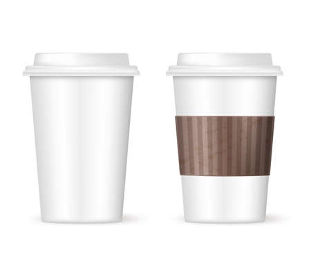 disposable cup: two coffee cups to go