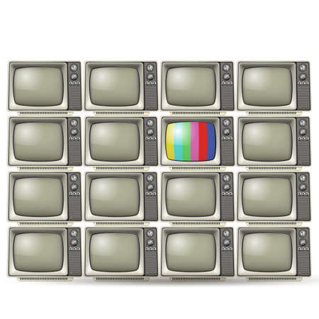vintage tvs Vector