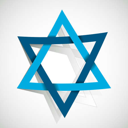star of David made of paper cut out Illustration