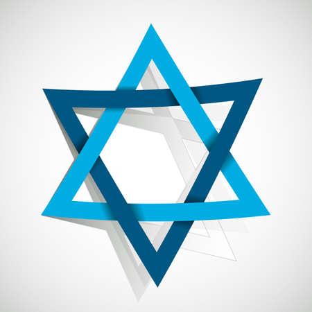 estrella de david: estrella de David hecha de papel cortado Vectores