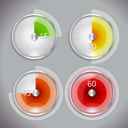 timer icon in four positions Stock Vector - 21634418