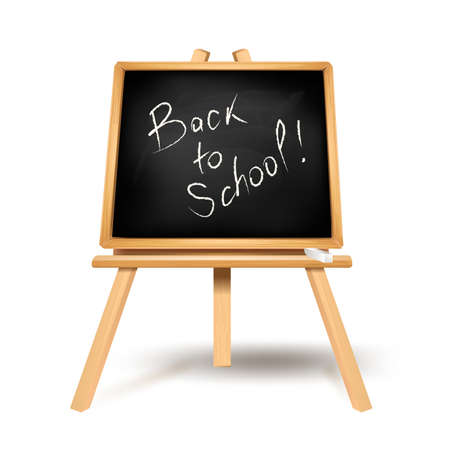 Back to school text on blackboard Stock Vector - 21773855