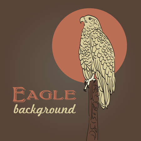 eagle drawing background in vintage colors Stock Vector - 21773864