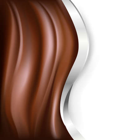 chocolate: chocolate background with silver parts Illustration
