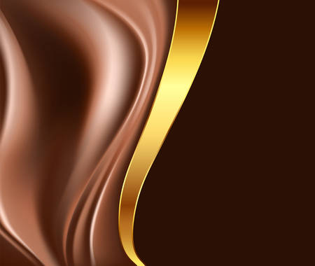 chocolate swirl: chocolate and gold abstract background