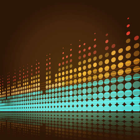musical background with lines in retro style Vector