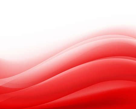 fondo rojo con olas plegables