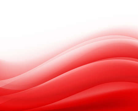red background with folding waves