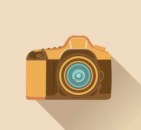 photographic: photographic camera in retro style