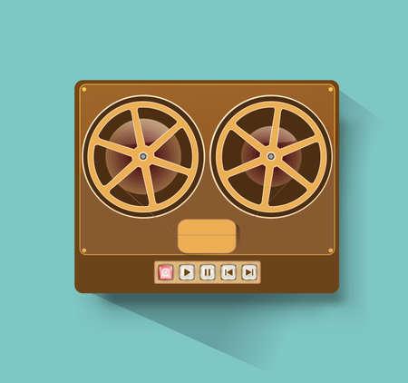 grabadora: retro de carrete a carrete grabadora