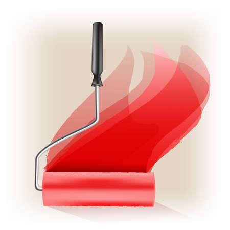 rollerbrush: roller brush symbol Illustration