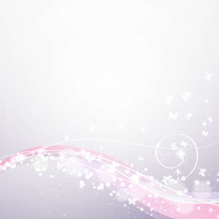 soft background: soft background with waves,lights and butterflies Illustration