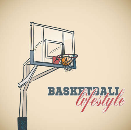 basket ball: basketball basket background