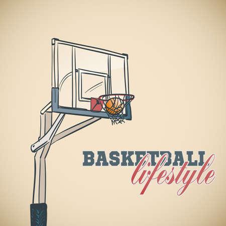 hand basket: basketball basket background