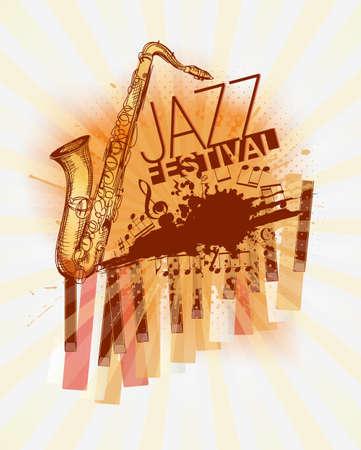 jazz modern: Jazz music festival background template