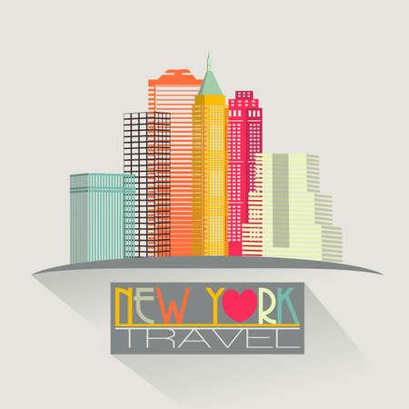 new york skyline: new york skyline travel background
