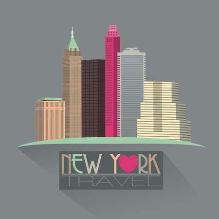 scraper: new york skyline travel symbol