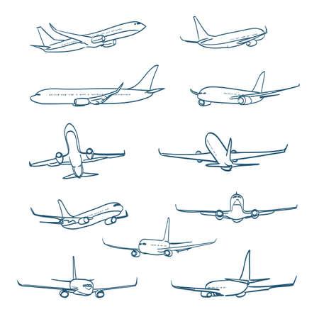 avion caricatura: aeroplanos bocetos