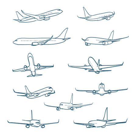 airplane wing: airplanes sketches