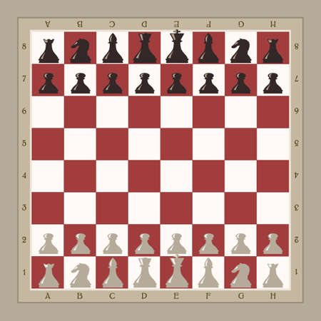 chess move: chess board illustration Illustration