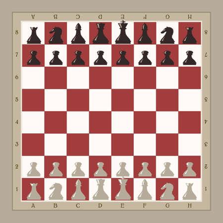chess: Ilustración de la placa de ajedrez Vectores