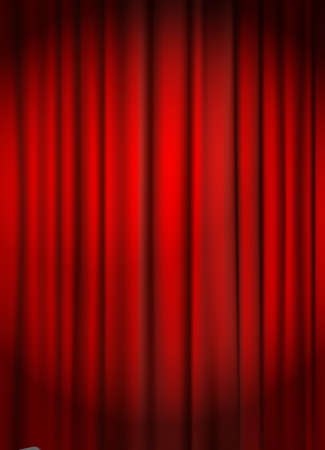red curtain: red curtain backround vector illustration Illustration