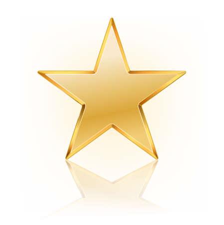 illustration vectorielle de l'étoile d'or