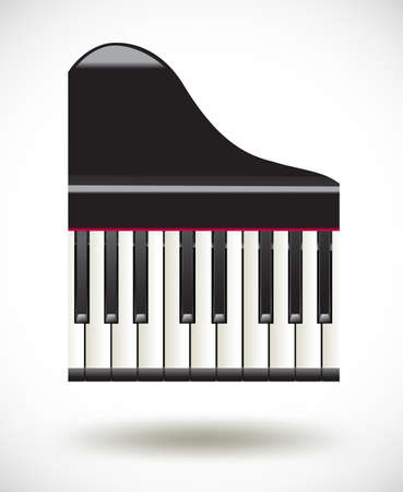 grand  piano keys icon on white Vector