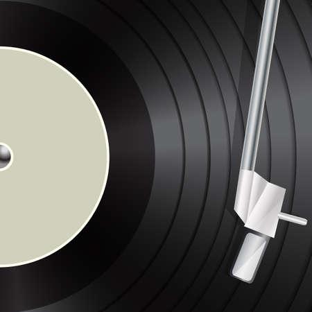 vynil: vinyl macro as retro music background Illustration