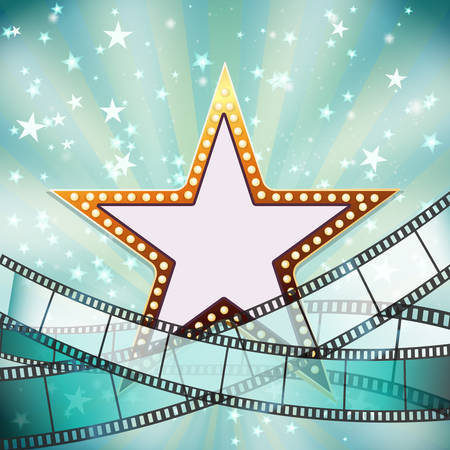 cinema background: abstract cinema background with golden star