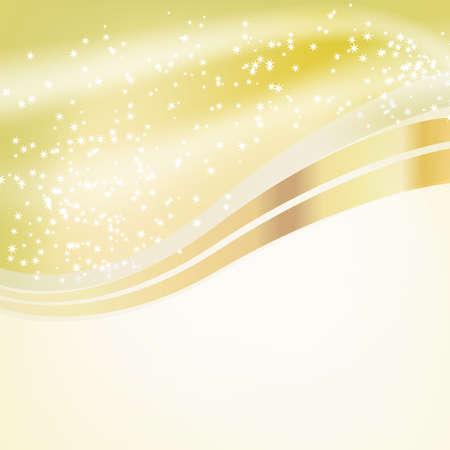 over: stars flowing over golden background