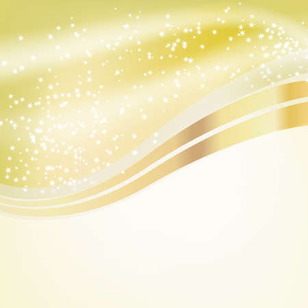 stars flowing over golden background