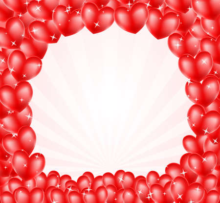 balloon frame heart balloons frame background with stars