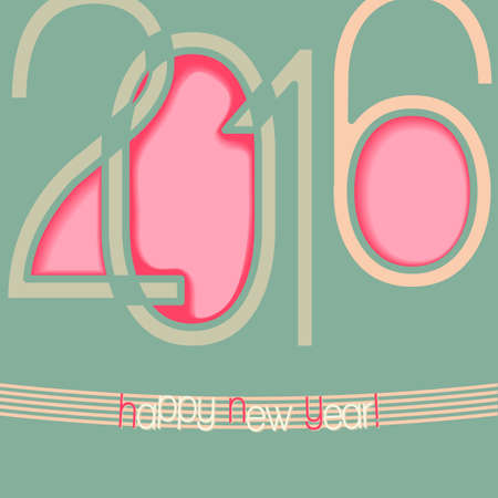 decoratiion: 2016 abstract background with cut out elements of numbers