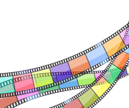 film: background with color filmstrip.