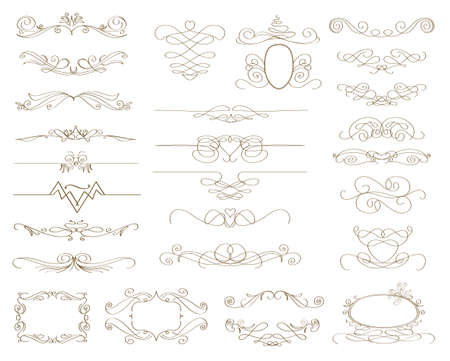 abstract design elements: abstract decorative design elements.