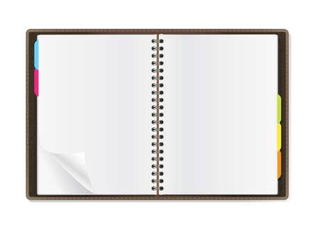 pages de journal ouvert sur fond blanc Vecteurs