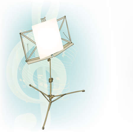 music stand: music stand in abstract compositiony