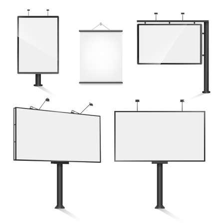 outdoor advertising: set of advertising outdoor design templates.