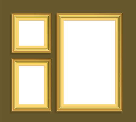 golden frames: set of golden frames.